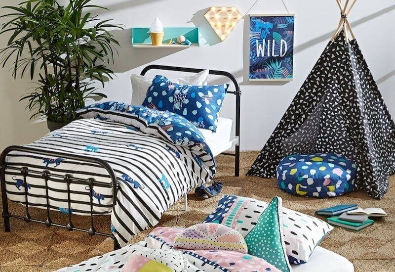 kmart august 2016 kids room homewares for kids kmart kids bedding and teepee