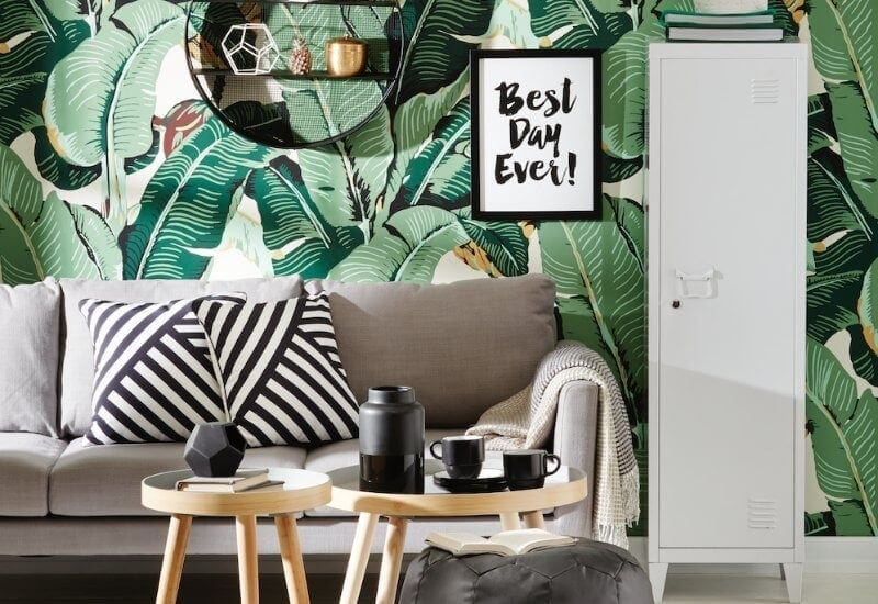 Kmart august 2016 tropical leaf wallpaper design the life creative