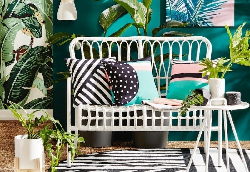 kmart august 2016 wicker outdoor furniture in white the life creative
