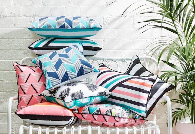 kmart august 2016 homewares outdoor cushion range from kmart australia