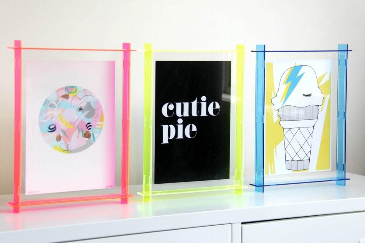 lecky studio acrylic fluro box frames on the life creative