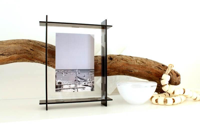 lecky studio black acrylic frame in coastal vignette on the life creative