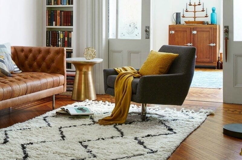 lucas swivel base occasional chair from west elm