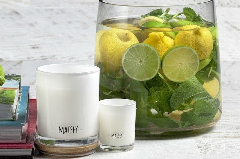 maisey candle lime and coconut candle the life creative