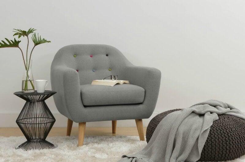 maya armchair in light grey from zanui