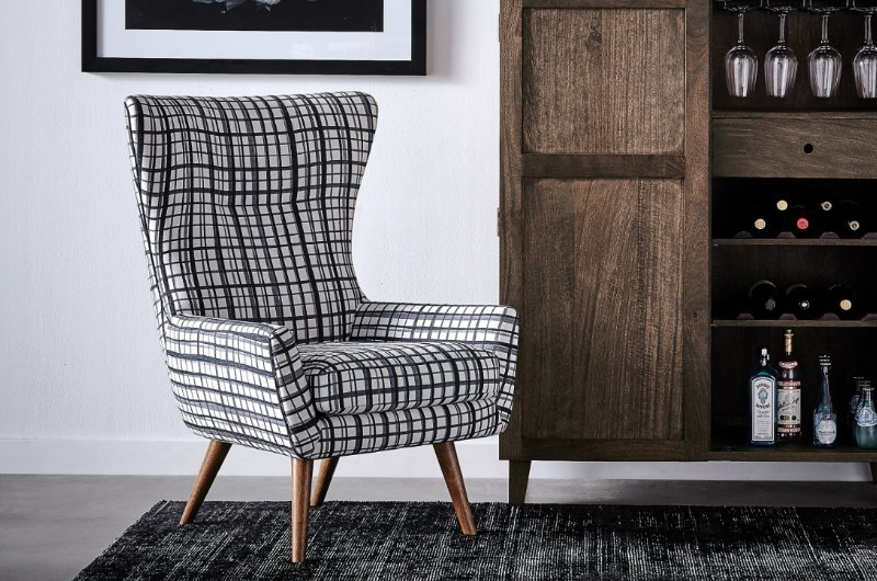 modern wing armchair in brooklyn black from freedrom