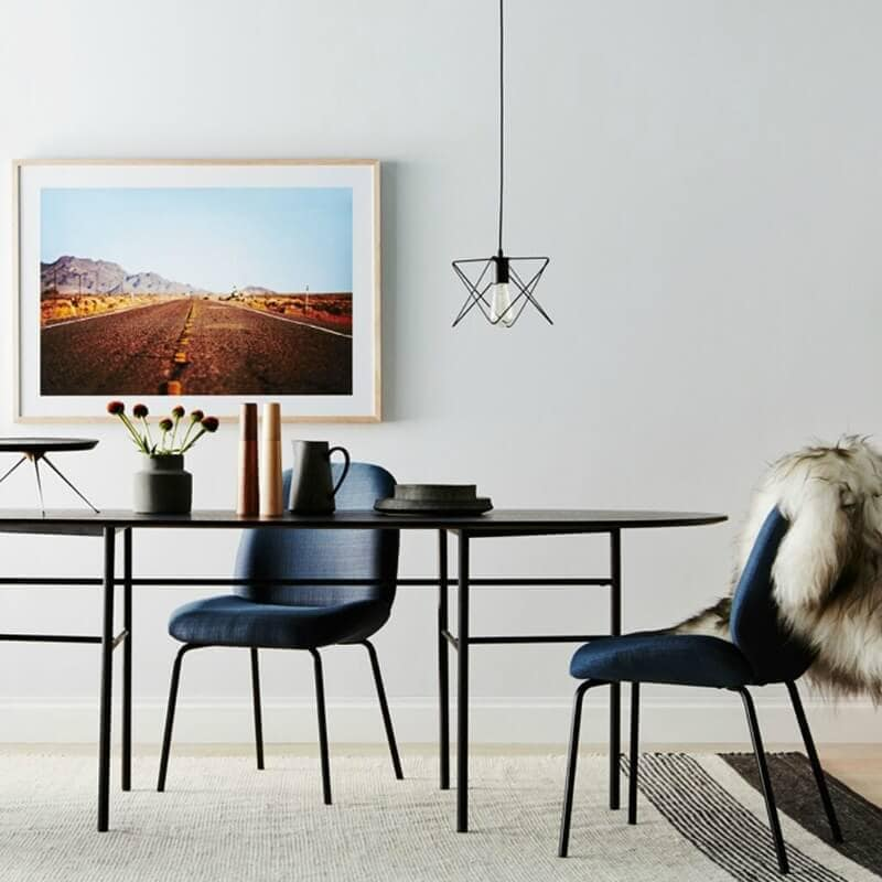 nathan and jac aston dining room furniture black dining table with blue chairs