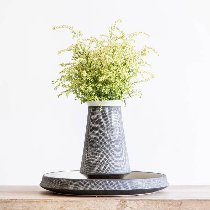 nathan and jac aston homewares package grid pattern vase