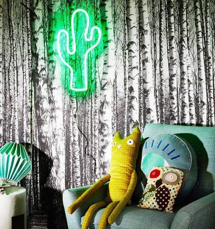 neon poodle green cactus light on the life creative