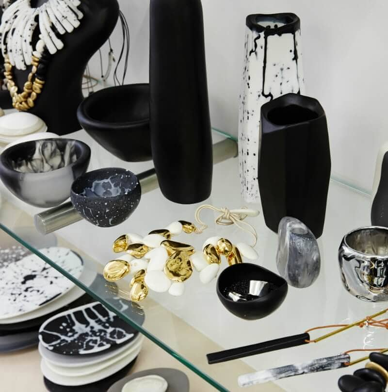 organic shapes in design Dino Designs ceramics on the life creative