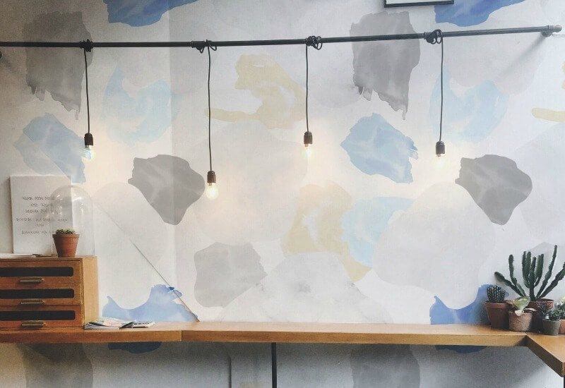 painterly digital wallpaper design by Alice Rooney RMIT student