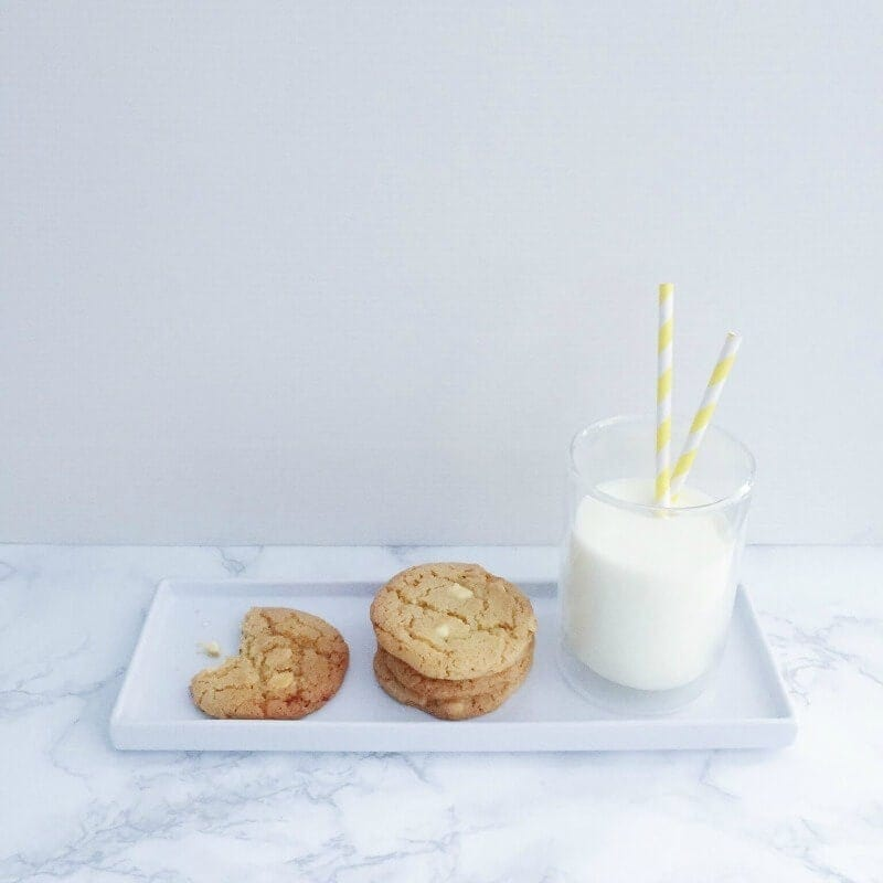 white choc and lemon cookie recipe with milk on the life creative