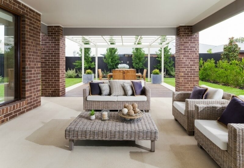 Bairnsdale Glendale outdoor room design from metricon homes on the life creative