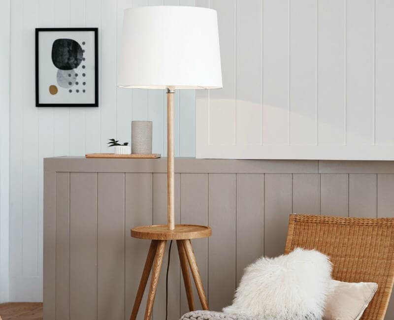 Beacon Lighting Haines floor lamp with built in side table bedside table ideas the life creative