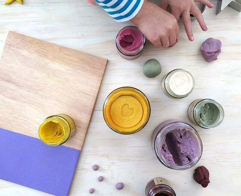 Happy hands happy heart kids natural playdough jars