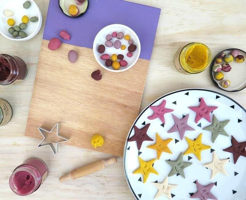Happy hands happy heart kids natural playdough stars