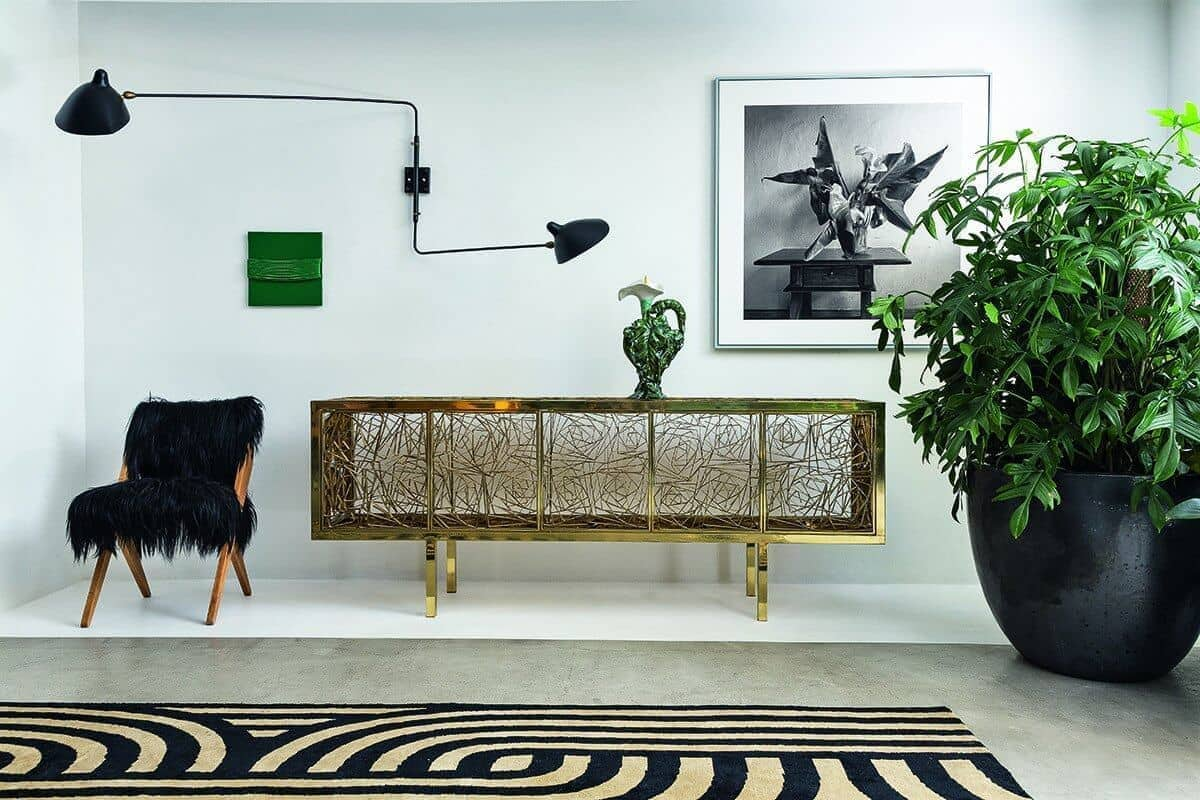 emerald and brass interior design ideas brass buffett