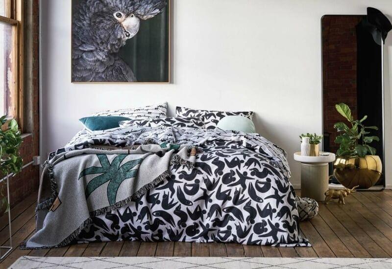 goosebumps bedding 2016 black and grey yoga pose bedding collection