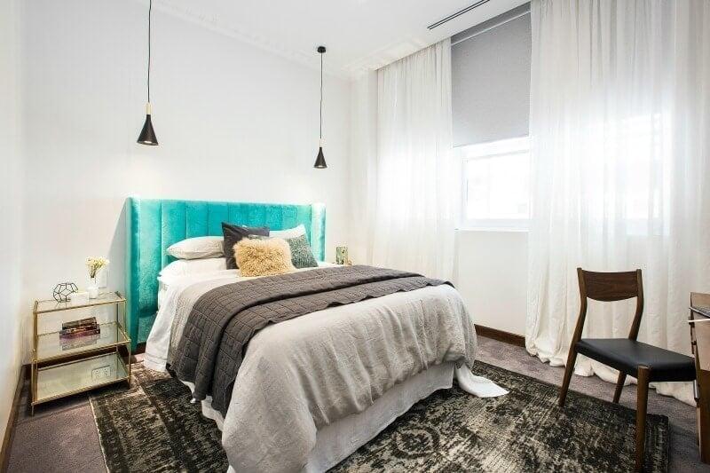 The Block 2016 week 4 guest bedroom reveals Dan and Carleen guest bedroom 2