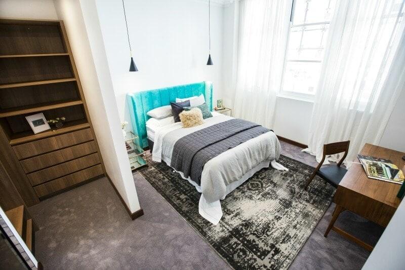 The Block 2016 week 4 guest bedroom reveals Dan and Carleen guest bedroom 4