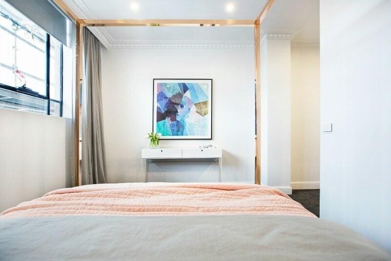 The Block 2016 week 4 guest bedroom reveals Julia and Sasha guest bedroom 4