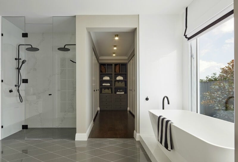 black-and-white-bathroom-with-grey-diamond-tile-floor-metricon-bayville-49