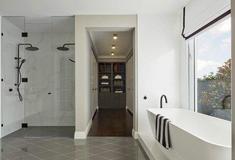 black-and-white-bathroom-with-grey-diamond-tile-floor-metricon-bayville-49