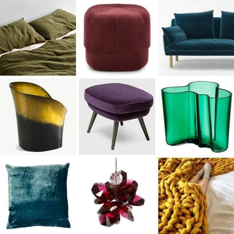 deep jewel tone decor and homewares