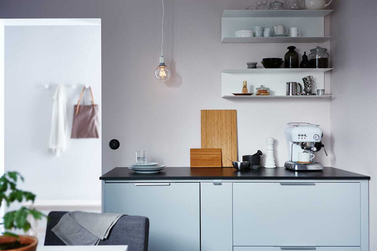 little-kitchen-ikea-kitchen-with-exposed-wall-shelves-and-pendant-light-bulb