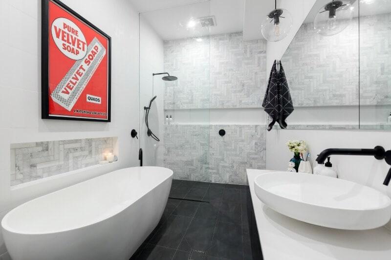 the block 2016 master bathroom reveals andy and ben master bathroom 2