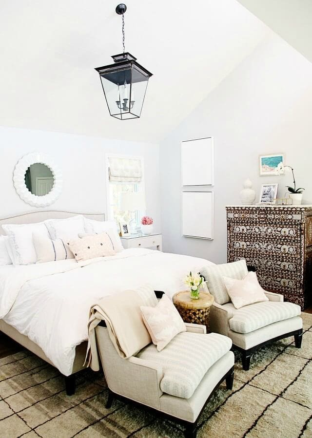 all-white-bedroom-with-scandinavian-design-and-bohemian-tallboy