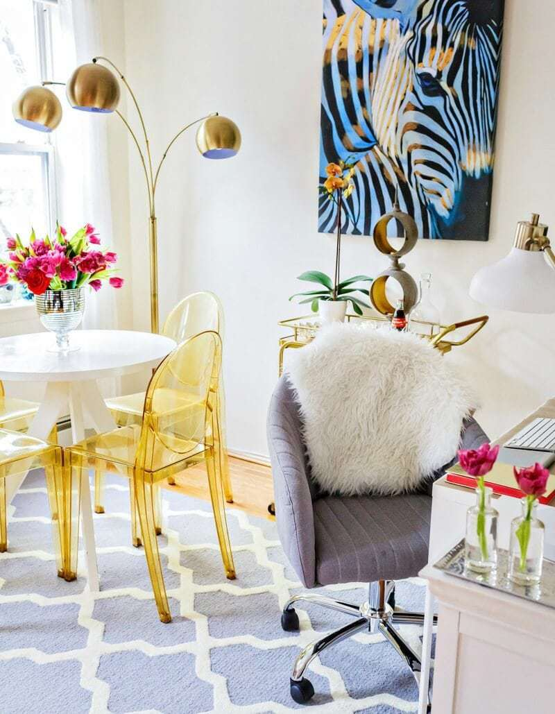 home-office-styling-with-stylish-office-chair-and-zebra-art