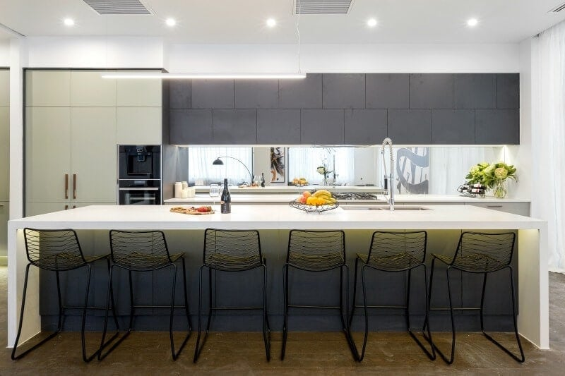 the-block-2016-and-and-ben-kitchen-bench-with-black-stools