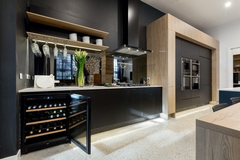 the-block-2016-karlie-and-will-kitchen-with-wine-fridge