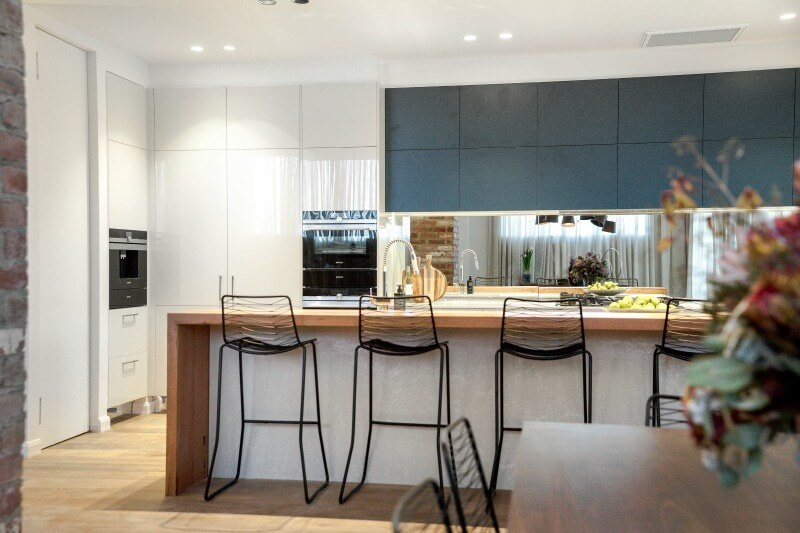 the-block-2016-kim-and-chris-kitchen-with-dark-grey-cabinetry