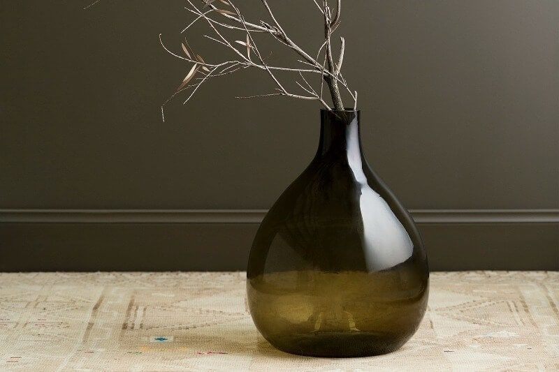 dark-green-haymes-paint-with-coloured-glass-vase-and-branches