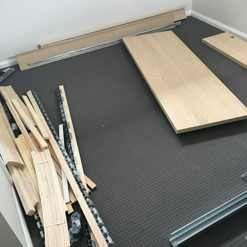 ikea flatpack furniture malm bed dismantled