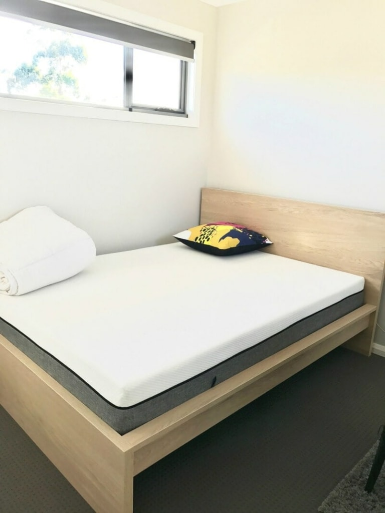 malm bed from ikea with ecosa memory foam mattress