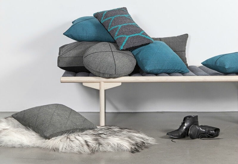 One Another fair trade cushions in blue and grey at life instyle sydney 2017
