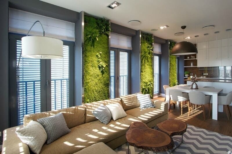 vertical garden in city apartment interior design trends for 2017