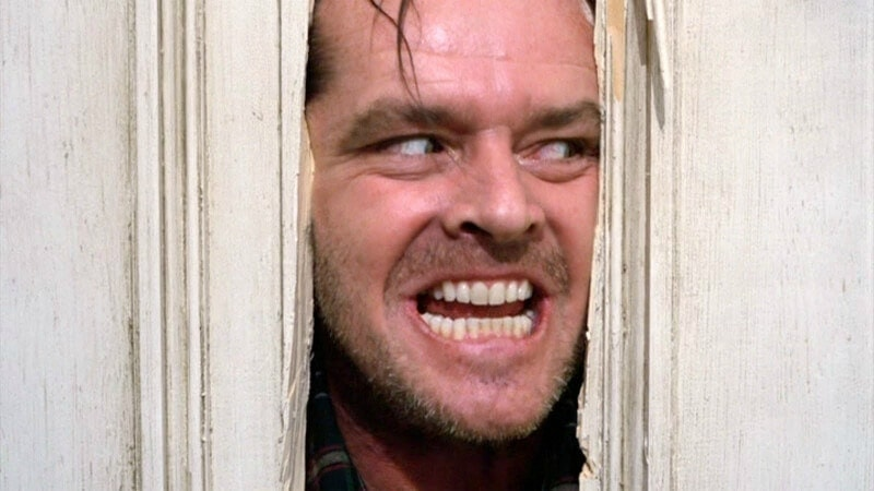 scene from the shining here's johnny jack nicholson