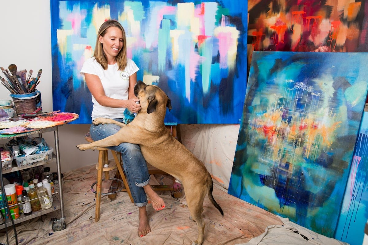 australian abstract artist catherine hiller in st kilda studio