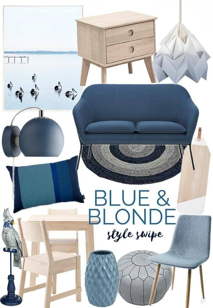 blue and blonde decorating ideas from the life creative