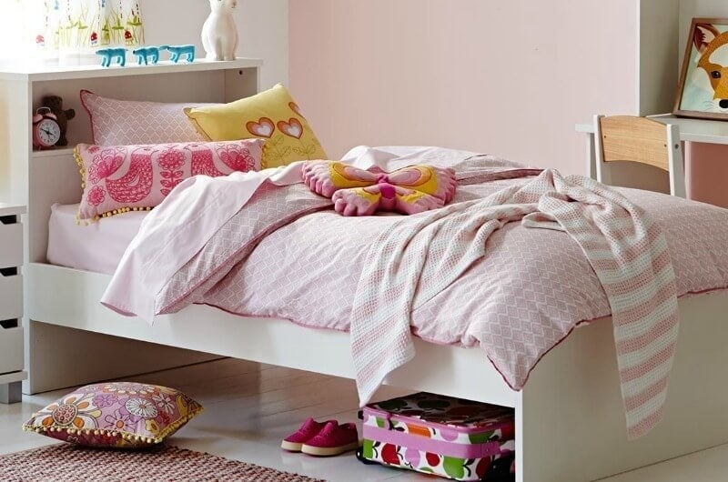calypso single bed from snooze white beds for kids with pink girly bed linen