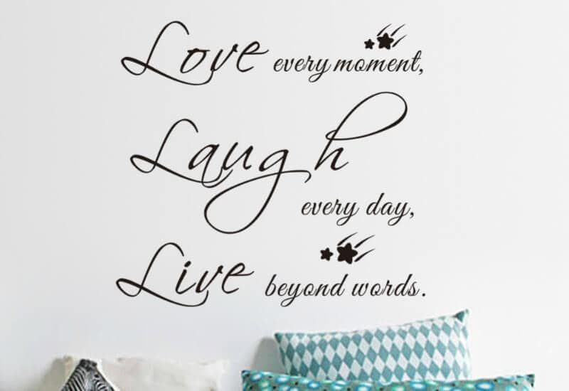 ugly decor live love laugh wall decal