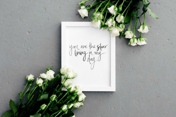 you are the silver lining in my day quote art by the blackline by lauren