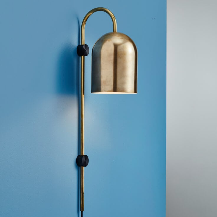 Duomo brass wall light from anesthetic