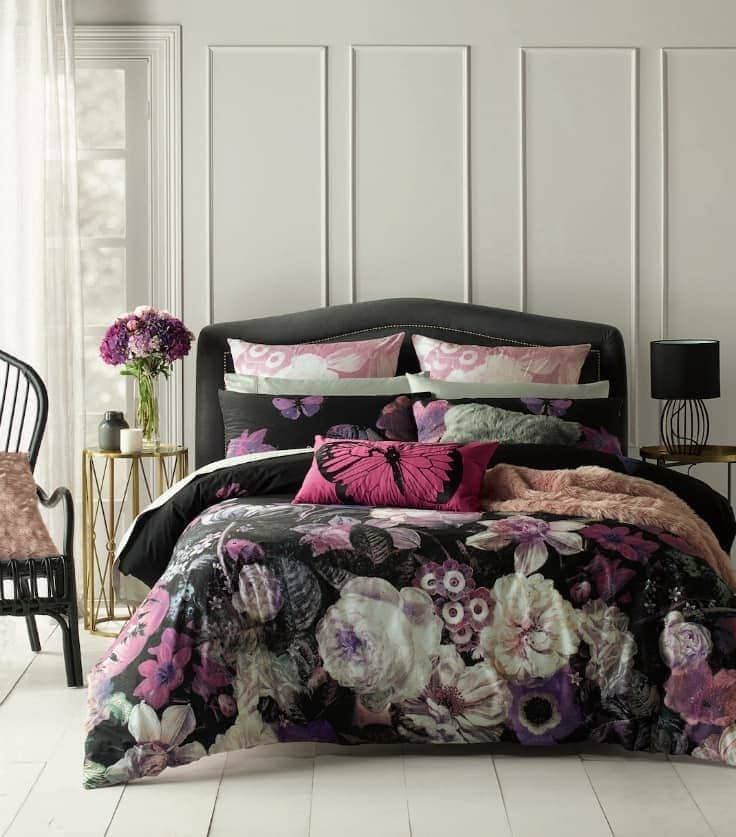 dark floral bedding carissa bedding from lorraine lea
