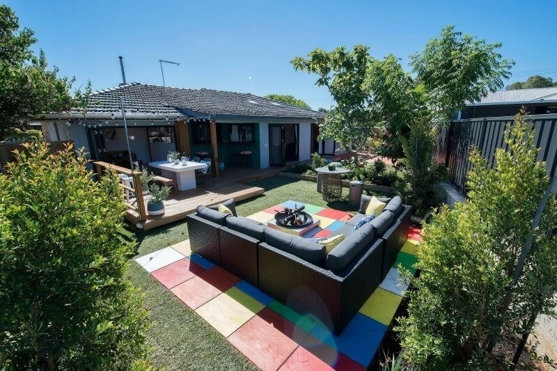 house rules 2017 andrew and jono backyard rubix cube flooring