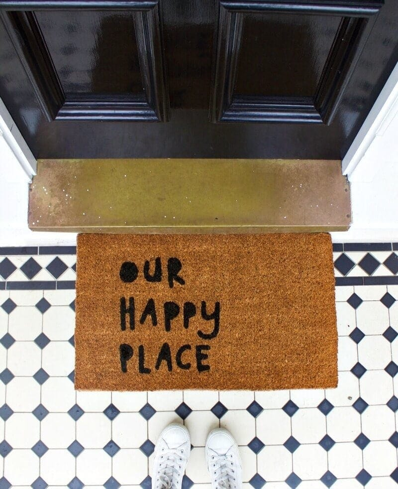 our happy place doormat by dont be a doormat